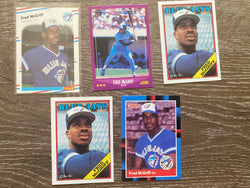 Fred McGriff 5 Baseball Card Lot