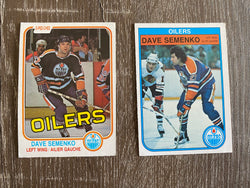 Dave Semenko 2 O-Pee-Chee Card Lot