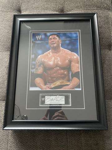 Batista Autographed Framed WWE Photo