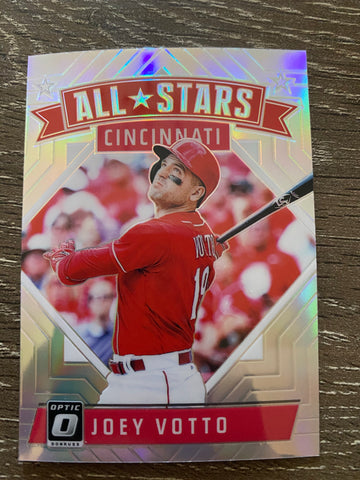 JOEY VOTTO 2018 Donruss Optic  - ALL-STARS - SILVER PRIZM - #166