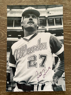 Ted Turner Autograph Atlanta Braves 4x6 Photo