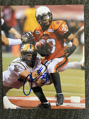 Andrew Harris  Autographed BC Lions 8x10 Photo