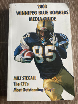 Winnipeg Blue Bombers 2003 Media Guide