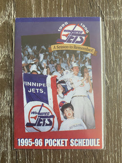 Winnipeg Jets 1995-96 Pocket Schedule - Last Season