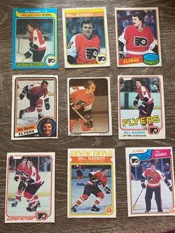 Bill Barber 70s & 80s O-Pee-Chee 9 Card Lot