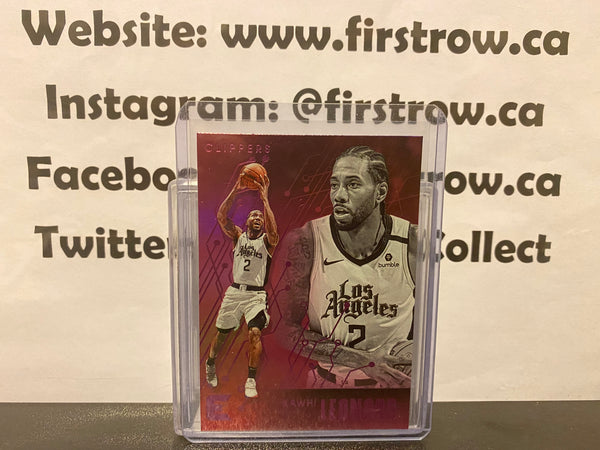 Kawhi Leonard 2019-20 Panini Chronicles ESSENTIALS PINK PARALLEL #209 CLIPPERS