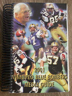Winnipeg Blue Bombers 2001 Media Guide
