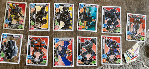 Transformers 11 Card Topps Lot