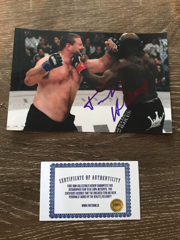 Tank Abbott Autograph 4x6 Photo
