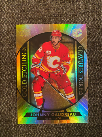 Johnny Gaudreau 2020-21 Upper Deck Tim Hortons Gold Etchings G-4