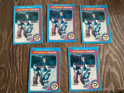 Randy Carlyle 1979-80 O-Pee-Chee 5 Card Lot