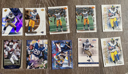 Marshall Faulk 10 Football Card Lot