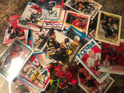 Autograph Hockey Cards Mystery Lot of 10