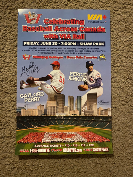 Gaylord Perry Autographed 11x16 Poster