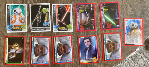 Star Wars 11 Topps Card Lot