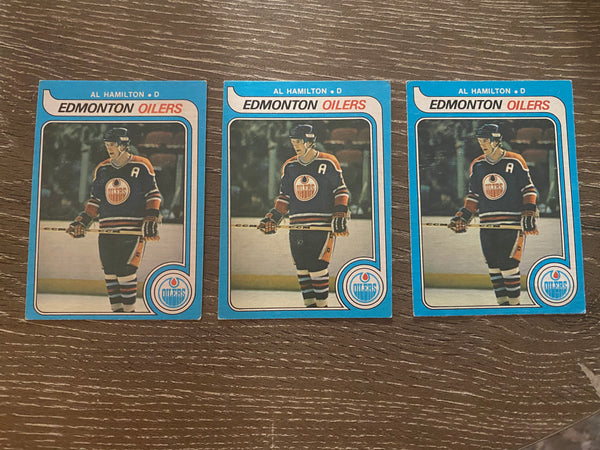 Al Hamilton 1979-80 O-Pee-Chee 3 Card Lot