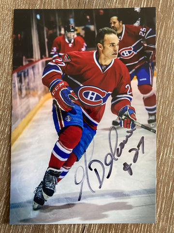 Gilbert Delorme Autograph Montreal Canadiens 4x6 Photo