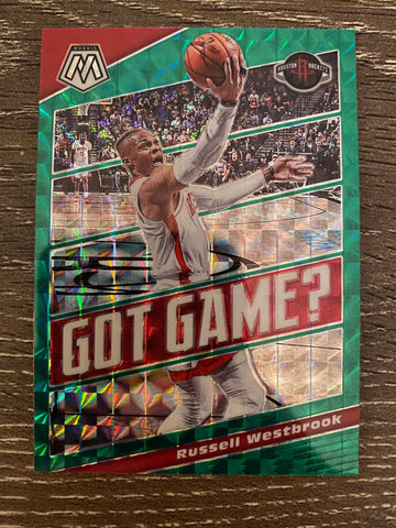 Russell Westbrook 2019-20 Panini Mosaic Got Game? Green Prizm SP