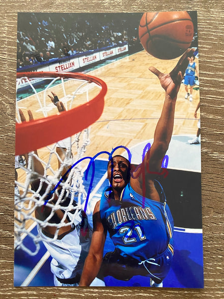 Jamaal Magloire Autograph New Orleans Hornets 4x6 Photo