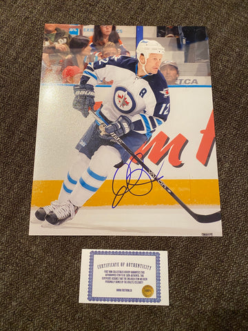 Olli Jokinen Autograph Winnipeg Jets 8x10 Photo