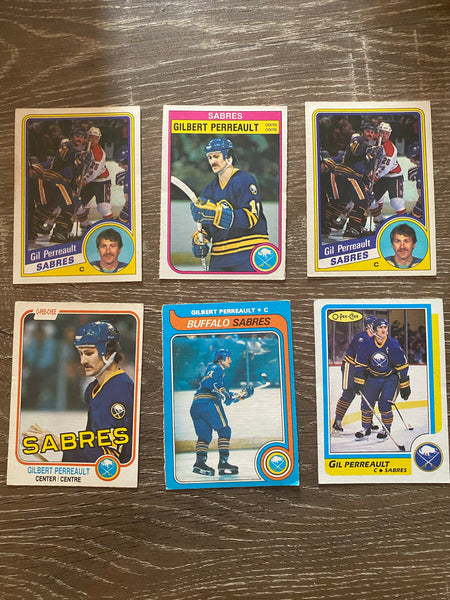 Gilbert Perreault 1980s O-Pee-Chee 6 Card Lot