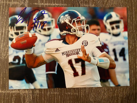 Tyler Russell Autograph Mississippi State 4x6 Photo