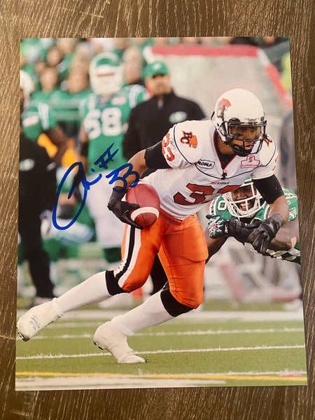 Andrew Harris Autograph BC Lions 8x10 Photo