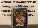 Mike Trout 2021 Topps Heritage Blue Sparkle Refractor #169 SP