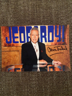 Alex Trebek Autographed Jeopardy 4x6 Photo