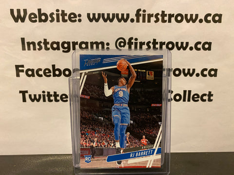 RJ Barrett RC 2019-20 Panini Chronicles PRESTIGE Rookie Card #68 New York Knicks