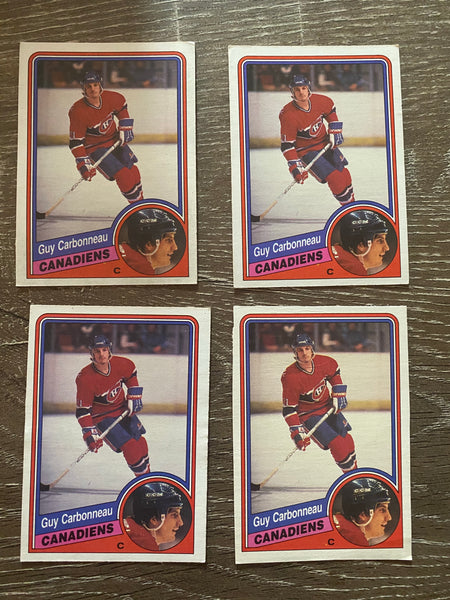 Guy Carbonneau 1984-85 O-Pee-Chee 4 Card Lot