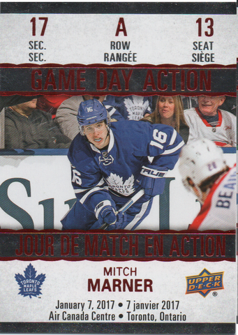 Mitch Marner 2017-18 Upper Deck Tim Hortons Game Day Action GDA-13
