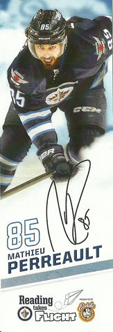 Mathieu Perreault 2015-16 Reading Takes Flight Winnipeg Jets Bookmark