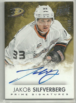 Jakob Silfverberg 2013-14 Panini Prime Hockey Auto /99 Signatures Anaheim Ducks - First Row Collectibles