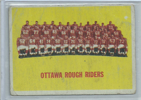 Ottawa Rough Riders 1964 Topps CFL #58