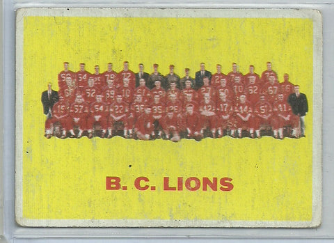 BC Lions 1964 Topps CFL #10
