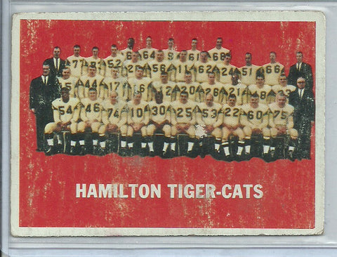 Hamilton Tiger-Cats 1964 Topps CFL #39 - First Row Collectibles