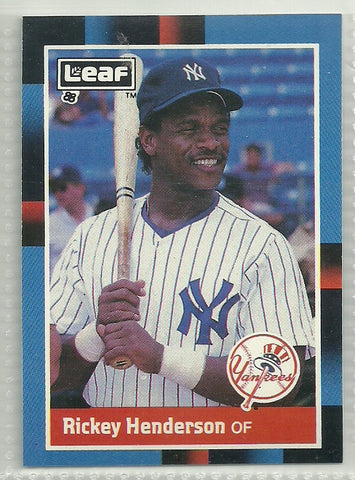 Rickey Henderson 1988 Leaf/Donruss #145