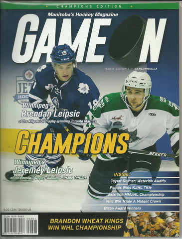 Brendan Leipsic & Jeremy Leipsic Game On Magazine 2016 Champions Edition