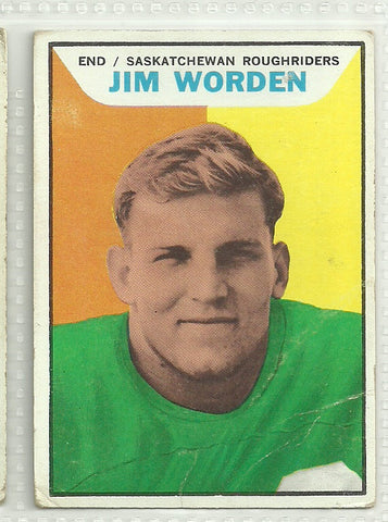 Jim Worden 1965 Topps CFL #102 - First Row Collectibles