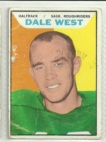 Dale West 1965 Topps CFL #100 - First Row Collectibles