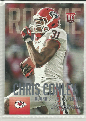 Chris Conley 2015 Panini Prestige #217 Rookie Card