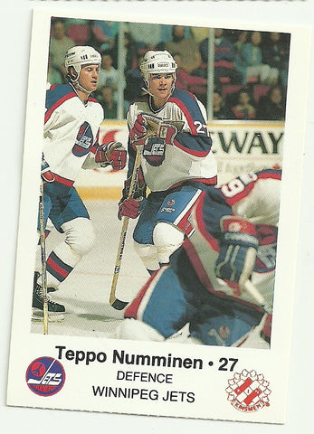 Teppo Numminen Winnipeg Jets Police Safety Tips Card