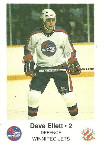 Dave Ellett Winnipeg Jets Police Safety Tips Card
