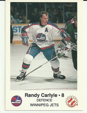 Randy Carlyle Winnipeg Jets Police Safety Tips Card
