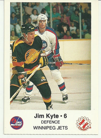 Jim Kyte Winnipeg Jets Police Safety Tips Card