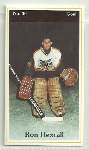 Ron Hextall 1983-84 Brandon Wheat Kings P.L.A.Y. (Police, Laws and Youth) #30
