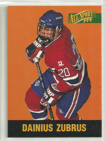 Dainius Zubrus 1996 Score Board All Sport PPF #98