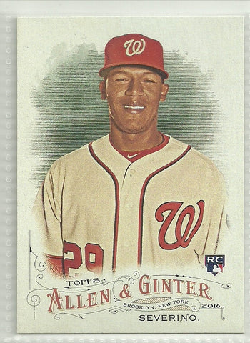 Pedro Severino 2016 Topps Allen and Ginter #318 SP Rookie Card