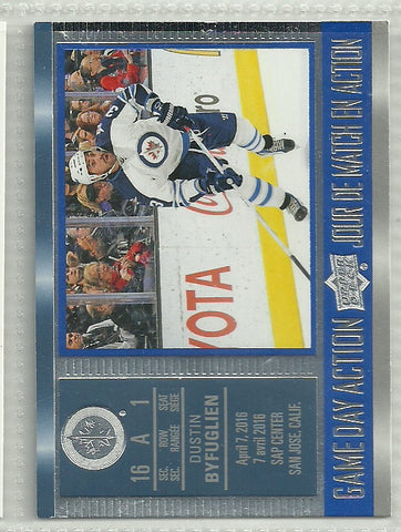 Dustin Byfuglien 2016-17 Upper Deck Tim Hortons Collector's Series - Game Day Action #GDA-15